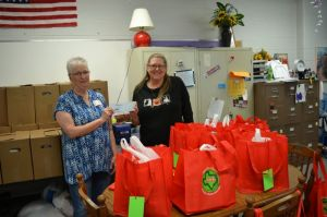 Sue Sommers delivers HCTDW Donation to Ingram Elementary Backpack (Food) Program.